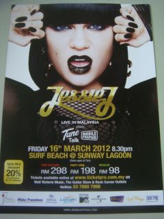 Jessie J Mini Concert Flyers Live in Malaysia 2012 RARE Poster