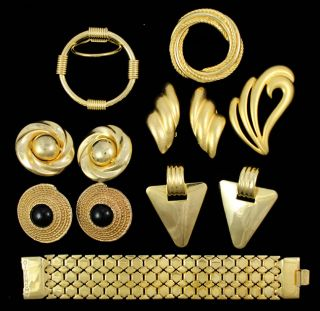 Givenchy Bracelet Gold Tone Costume Jewelry Earrings
