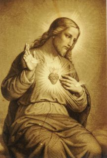 Orphanage Sacred Heart of Jesus Antique Irish Statue C 1880s