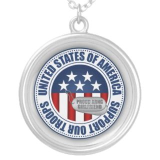 Proud Army National Guard Girlfriend Custom Necklace