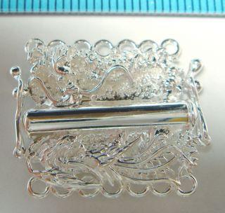 1x Sterling Silver 7 Strand Dragon Pearl Box Clasp N505