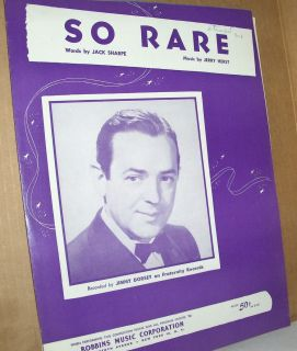 Sheet Music So RARE Recorded by Jimmy Dorsey