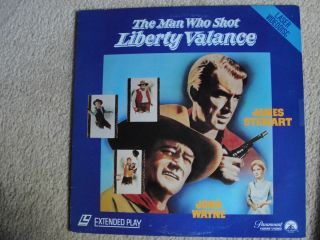 John Wayne Jimmy Stewart THE MAN WHO SHOT LIBERTY VALANCE LASERDISC