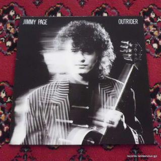 Jimmy Page Outrider LP NM Vinyl Inner Led Zeppelin Robert Plant Jethro