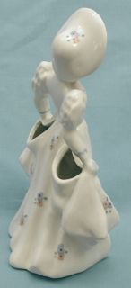 Florence Ceramics Young Girl Holding Up Her Dress with Large Pockets
