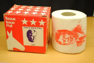 Jimmy Carter 1980 Election Tissue Paper Roll manufactured in 1980