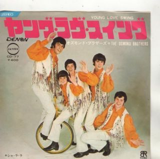 Osmond Brothers Jimmy 7 PS Sing in Japanese Young Love Swing L184