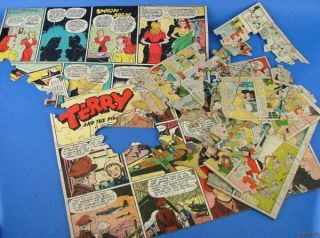 Vtg Misc Jaymar Featured Funnies Jigsaw Puzzle Pieces