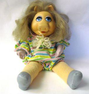 Miss Piggy Plush Doll in Romper Jim Henson Muppets Toy So Cute
