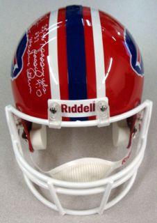 JIM KELLY AUTOGRAPHED SIGNED BUFFALO BILLS HELMET HOF MACHINE GUN #D