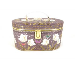 Coastal Design Kathryn White Floral Jewelry Box / Cosmetic Travel Case