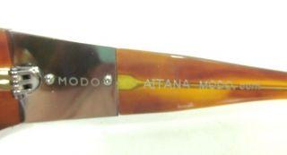 Modo Brown Aitana Plastic Frame Sunglasses Jill Zarin