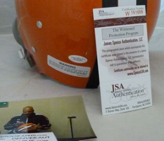 Jim Brown Autographed Signed Cleveland Browns Full Size Riddell TK