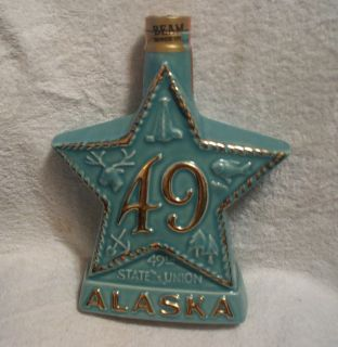 Jim Beam State Alaska Star Whiskey Decanter Bottle