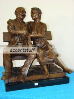 Bronze Grand Father Mother Statue Sculpture Art Figurin