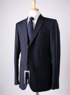 NWT $1295 JIL SANDER Navy Blue Tailor Made Wool Blazer Sport Coat Slim