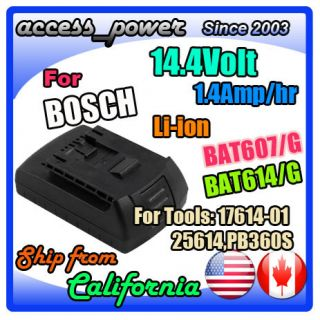 BAT614 BAT607 for Bosch PB360S PB360S R Power Box Jobsite Radio