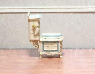 Miniature Dollhouse Bathroom Furniture Toilet Roylti 1 12 Scale New