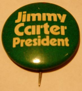 Vintage Jimmy Carter for President Pin with