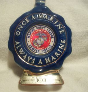 Jim Beam Once A Marine Always A Marine Whiskey Decanter Bottle
