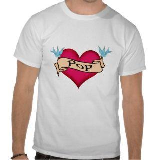 Pop   Custom Heart Tattoo T shirts & Gifts