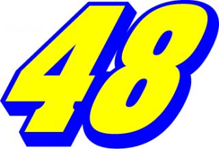 Jimmie Johnson 48 NASCAR Racing Car Sticker 4X5