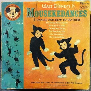 1955 Jimmie Dodd Ruth Carrell Mickey Mouse Club Mousekedances 10 78