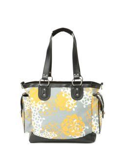 JJ Cole Collections 11 Grey Floral Diaper Bag