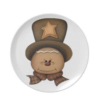 Gingerbread Man Christmas Plate