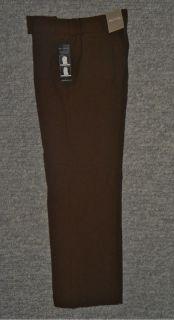 New White Stag Petite Womens Slimming Panel Brown Dress Pants Slacks
