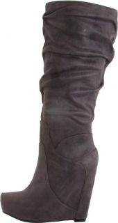 Womens Shoes Jessica Simpson Nya Wedge Platform Boots Knee High Suede