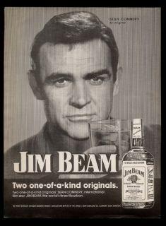 1974 Sean Connery photo Jim Beam Kentucky Bourbon whiskey vintage
