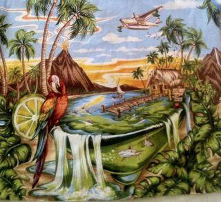 Jimmy Buffett Margaritaville XL Hawaiian Shirt Parrot Tiki Hut Island