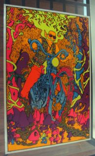 Poster Captain America Joe Roberts Jr Head Shop Black Light