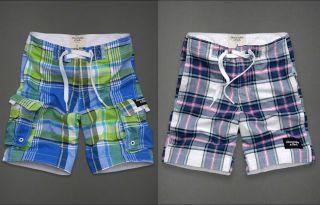 Abercrombie Hollister Plaid Board Shorts Swim Trunks Swimwear Small S