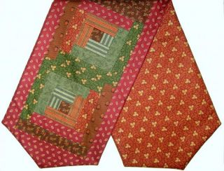 Jo Morton Andover Patchwork Pre Cut Table Runner Kit Ember Red