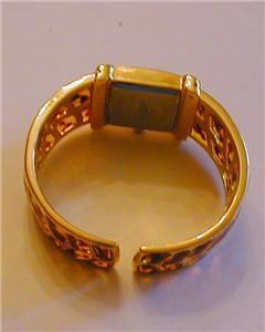 Joan Rivers Tortoise Colored Hinged Bracelet Watch