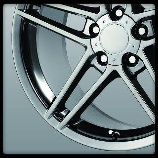 Replicas V1145 C6 ZO6 Silver Corvette Staggered Wheels Rims