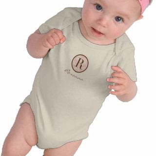 Elegant Pink & Brown Monogram R Shirt