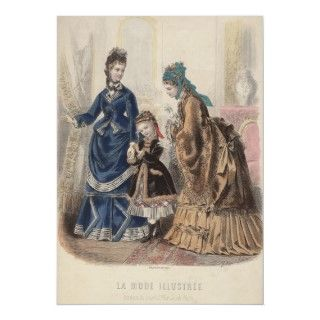 Poster Antique Fashion Plate   Heloise Leloir