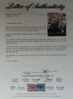 Jets Team Signed 16x20 PSA DNA LOA Joe Namath 25 Autos Mint