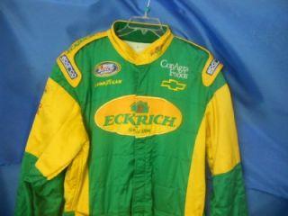 Joe Gibbs Racing Eckrich Crew Suit Firesuit 1 PC Busch Series NASCAR