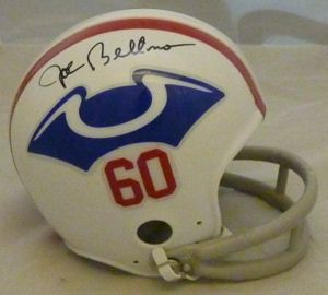 Joe Bellino Autographed Signed New England Patriots 1960 Throwback