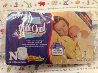 White Cloud Newborn Pack Of 2 John Lennon Disposable Diapers Wal Mart