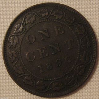 1896 Canada Large Cent Penny Please See Description and Pictures
