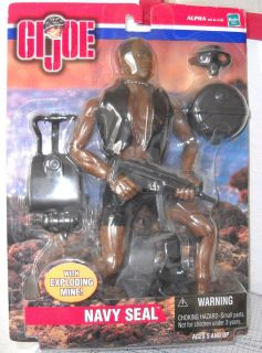 Joe Action Figure African American Navy Seal w Exploding Mine NRFB