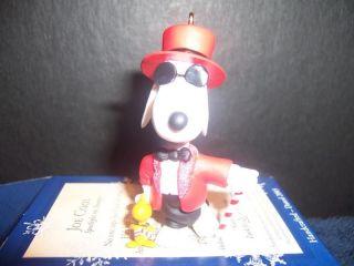 Hallmark Snoopy Peanuts Ornament Joe Cool Figure Toy