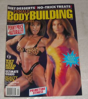 1994 Female Bodybuilding Sports Fitness Magazine Penny Price