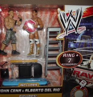 New WWE John Cena Alberto Del Rio Ringside Battle Playset 2 Figures