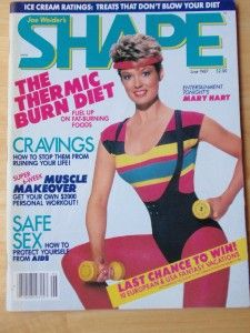 Joe Weider Shape Female Fitness Muscle Magazine Mary Hart 6 87